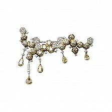 Брошь из комбинированного золота с бриллиантами Драгоценные соты