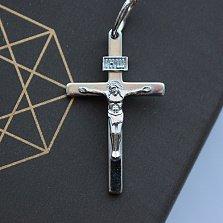 Крестик из серебра покрытый родием Всевышний