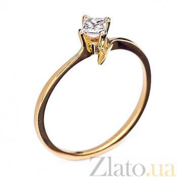 Золотое кольцо с бриллиантом Веста R0559