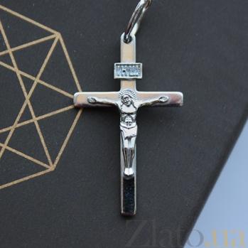 Крестик из серебра покрытый родием Всевышний HUF--3115-МР.ин