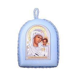Икона Божия Матерь Казанская с серебрением и позолотой 000131697