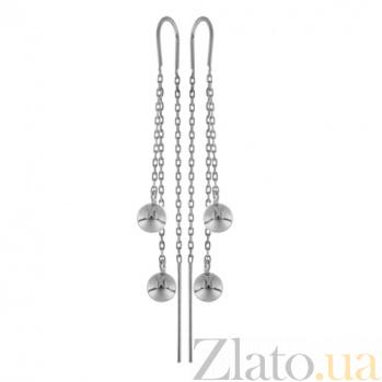 Серьги серебряные Бетти Айс TNG--580057С