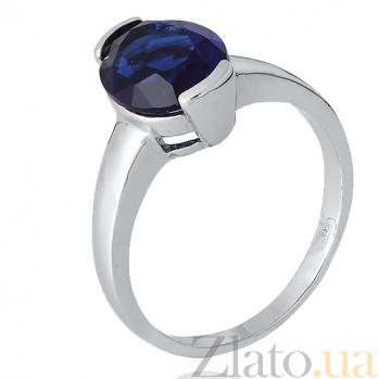 Кольцо из серебра Китнисс с синим фианитом 000028357