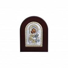 Серебряная икона Божьей Матери с позолотой