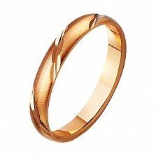 Золотое обручальное кольцо Классика стиля