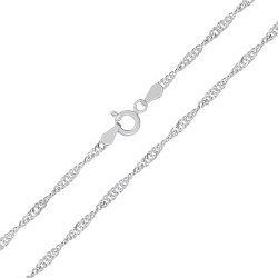 Серебряная цепь Фламенко, 3 мм