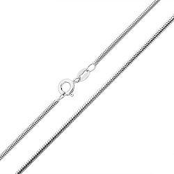 Серебряная цепочка в плетении снейк 000132667