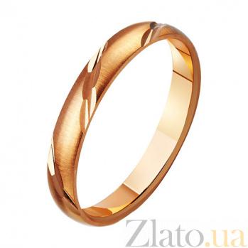 Золотое обручальное кольцо Классика стиля TRF--411125