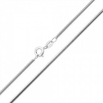 Срібний ланцюжок в плетінні снейк, 1,5мм 000132667