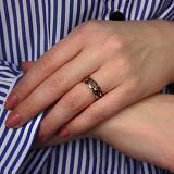 Кольцо из красного золота Милана с черными фианитами