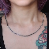 Серебряная цепочка чернёная Рембо, 3мм