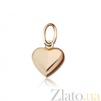 Золотой кулон Романтика в форме сердца EDM--П0105