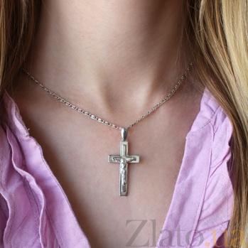 Серебряный крестик Благословение 000007287
