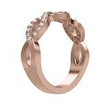 Обручальное кольцо из розового золота Загадки Галактики: Между мною и тобою