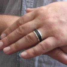 Серебряное кольцо Эстим с черным деревом (эбеном)