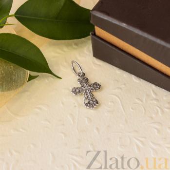 Серебряный крестик с фианитами Свет истины 000028549