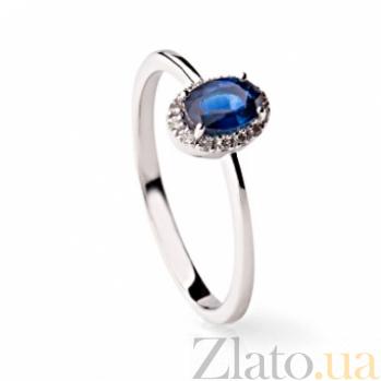 Кольцо из белого золота с бриллиантами и синим сапфиром Кавалли 000030390