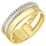 Золотое кольцо Десятилетие с фианитами