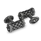 Серебряные запонки Гербовые с чернением