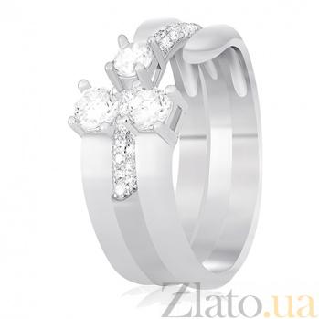 Серебряное кольцо Элора с цирконием 000030906