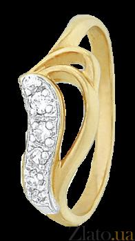 Серебряное кольцо с фианитами Эльмира 000025651