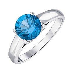 Серебряное кольцо со шпинелью и фианитами 000144917