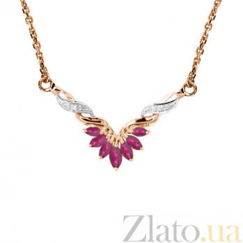 Колье из красного золота с рубинами и бриллиантами Жизель 000021710