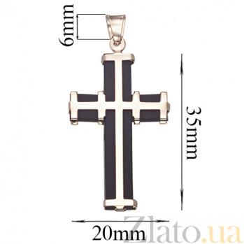 Декоративный крестик из золота с каучуком Щит TNG--940010