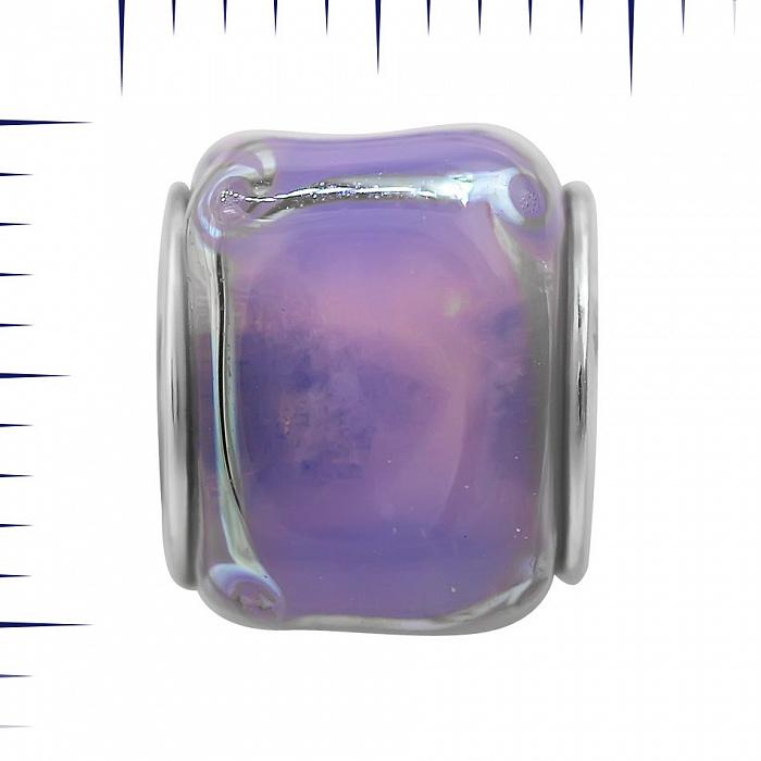 Серебряный шарм Леденец с фиолетовым муранским стеклом 000081714