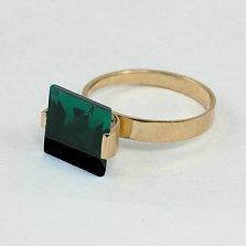 Кольцо из красного золота Ирма с синтезированным аметистом
