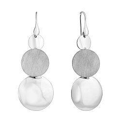 Серебряные серьги-подвески 000124545