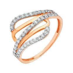 Золотое кольцо с фианитами 000036390