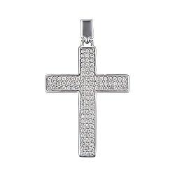 Крестик из белого золота с бриллиантами 0.45ct 000145330