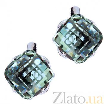 Серебряные серьги с празиолитом Стевия ZMX--EPrs-5561-Ag_K
