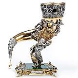 Серебряная композиция Рог и Кукловод