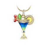 Золотое колье с бриллиантами и цветной эмалью Party Blue Tahoe