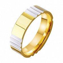Золотое обручальное кольцо Глубина любви