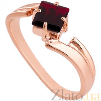 Золотое кольцо с гранатом Оливия 000024502