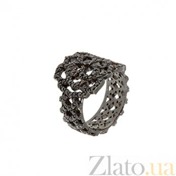Золотое кольцо с чёрными с бриллиантами Aurora ZMX--RDb-00299