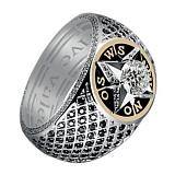 Мужское кольцо из золота с бриллиантами Первооткрыватель