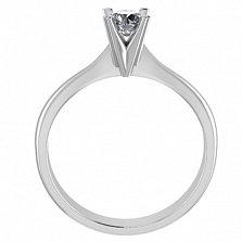 Кольцо в белом золоте с бриллиантом Победа любви