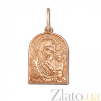 Золотая ладанка Казанская Божья Матерь 30749