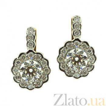 Золотые серьги с бриллиантами Пирра ZMX--ED-6289-3_K
