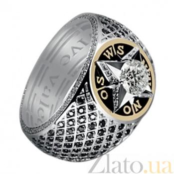 Мужское кольцо из золота с бриллиантами Первооткрыватель KBL--К1797/комб/брил