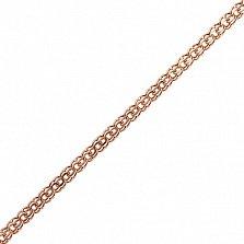 Серебряная цепочка Эридия в позолоте с алмазной насечкой