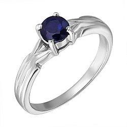 Серебряное кольцо с сапфиром 000132337