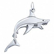 Серебряная подвеска Акула