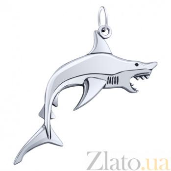 Серебряная подвеска Акула AUR--74601