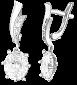 Серебряные серьги с фианитами Дейана SLX--С2Ф/101