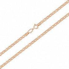 Золотая цепь Ливис в плетении ромб, 2,5мм